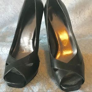 Mossimo Black Open Toe Heels Size 11